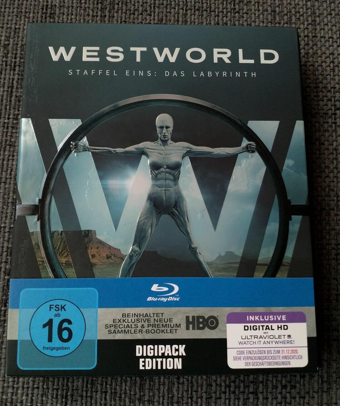 Westworld Staffel 1 Digipack Vorderseite
